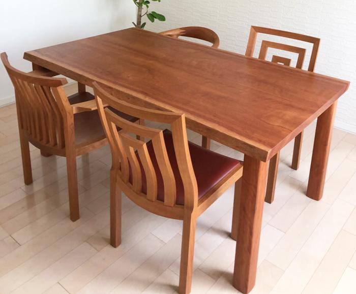 無垢材テーブル 無垢材チェア ボセ チェリー