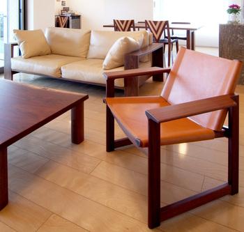 ウォールナット 無垢材チェア 無垢材ソファ 無垢材テーブル
