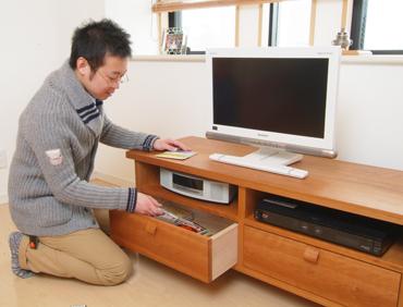 無垢材TVボード 無垢材家具 チェリー