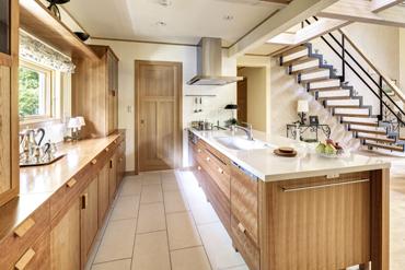 無垢キッチン チェリー 無垢材家具