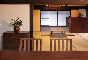 ウォールナット 無垢材テーブル 無垢材チェア 和室 無垢材家具