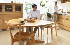ナラ 無垢材テーブル 無垢材チェア 無垢材キッチン 無垢材オーダーボード 無垢材家具