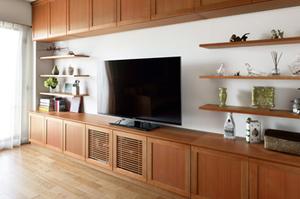 チェリー 壁面収納 無垢材オーダーボード 無垢材家具