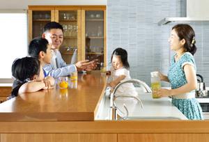 無垢材期オーダーキッチン 無垢材家具