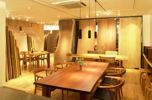 無垢材テーブル 一枚板テーブル サペリ 無垢材チェア 無垢材家具