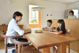 チェリー 無垢材テーブル 無垢材チェア 無垢材オーダーボード 無垢材家具