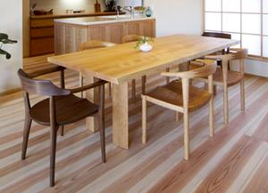 無垢材家具 無垢材テーブル 無垢材チェア 無垢材キッチン チェリー ウォールナット