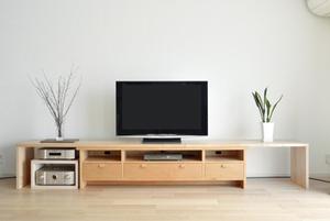 無垢材家具 無垢材TVボード 無垢材テレビボード チェリー 無垢材オーダーボード