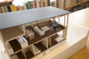 戸建 建築家 模型 無垢材家具