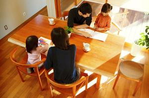 リビング学習 無垢材家具 チェリー 無垢材テーブル 無垢材チェア