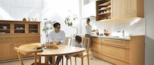 家具蔵の無垢材オーダーキッチン