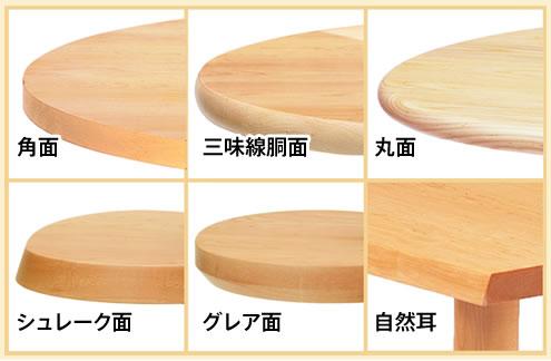 天板形状の選択