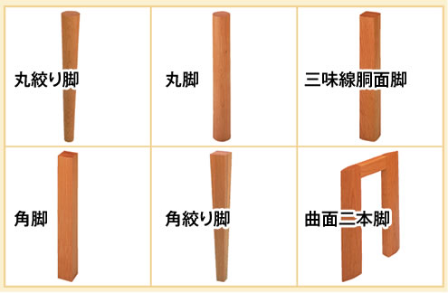 脚の形状の選択①