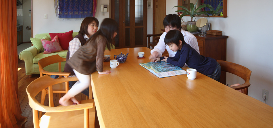 vol.01 ナラのダイニングテーブル 東京都 目黒邸