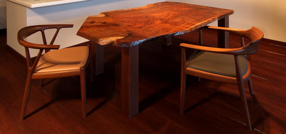 vol.16 クラロ・ウォールナットのダイニングテーブル 東京都 舘下邸