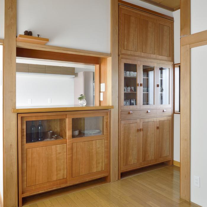 オーダー壁面収納 オーダーボード チェリー 食器棚