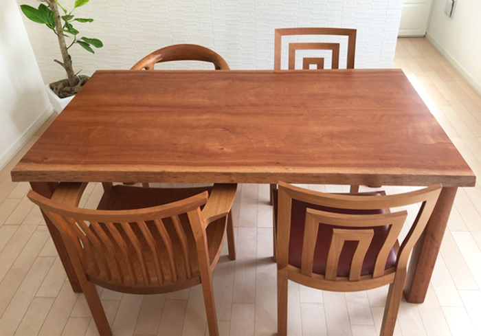 無垢材ダイニングチェア 無垢材テーブル アフリカ材 ボセ