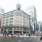 「銀座店のそばで東京マラソンが行われました」
