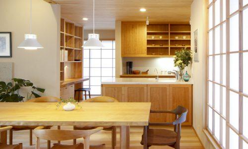 木のキッチンの意匠1~面材について