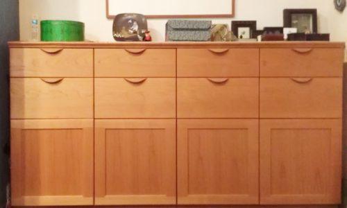 「チェリー材の収納ボードの納品実例のご紹介 ~銀座店納品記~」