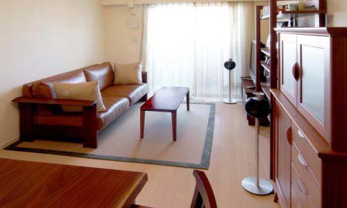 無垢材家具でつくる「広く見える」空間