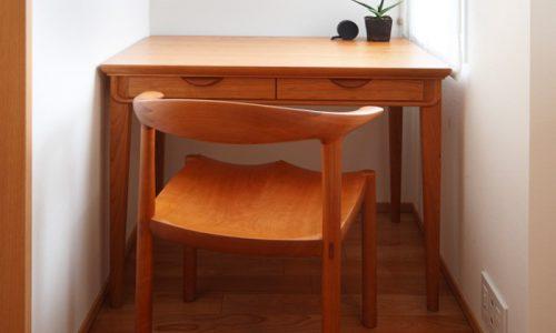 無垢材チェリーの家具を主役にした空間づくりとは