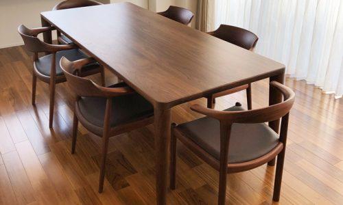 「大きなダイニングテーブルのある暮らし ~自由が丘店ご納品記~」